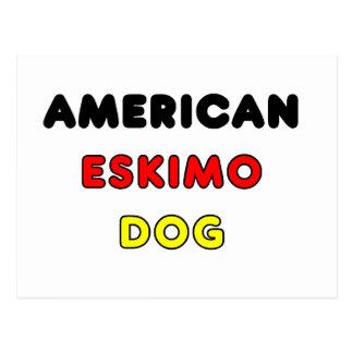 american eskimo flag in name postcard
