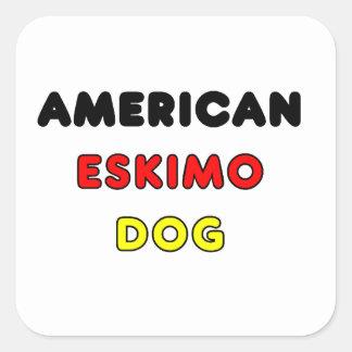 american eskimo flag in name square sticker