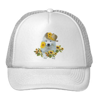 American Eskimo Flower Apparel Trucker Hat