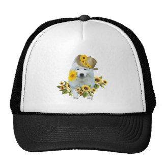 American Eskimo Flower Child Trucker Hat