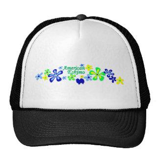 American Eskimo Flowers Trucker Hat