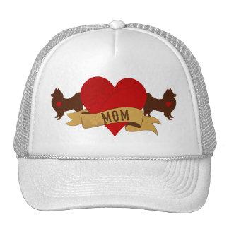 American Eskimo Mom Tattoo style Mesh Hats