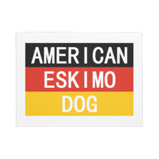american eskimo name on flag doormat