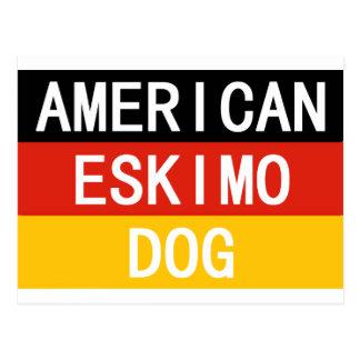 american eskimo name on flag postcard