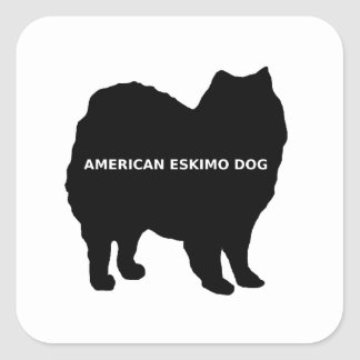 American Eskimo name silo Square Sticker