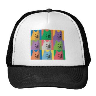 American Eskimo Pop-Art Trucker Hats