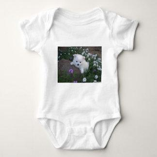 American Eskimo Puppy Dog Baby Bodysuit