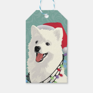 American Eskimo Samoyed Cute Puppy Dog Christmas Gift Tags