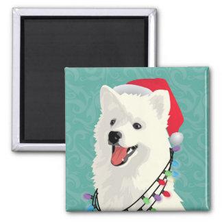 American Eskimo Samoyed Cute Puppy Dog Christmas Magnet