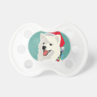 American Eskimo Samoyed Cute Puppy Dog Christmas Pacifier