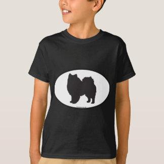 American Eskimo Silhouette T-Shirt