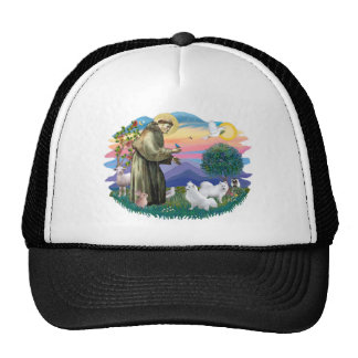 American Eskimo Spitz (two) Trucker Hat