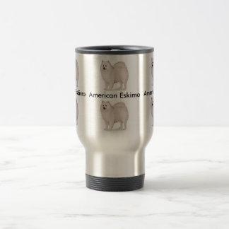American Eskimo Travel Mug