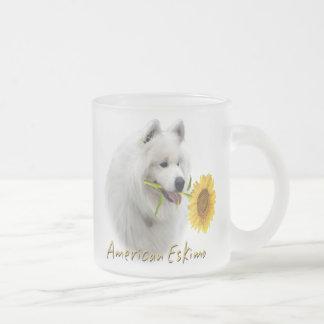American Eskimo With Daisy Mug