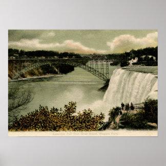 American Falls, Goat Island, Niagara Falls 1906 Vi Poster