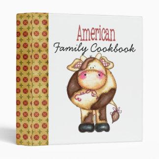 American Family Cookbook Vinyl Binders