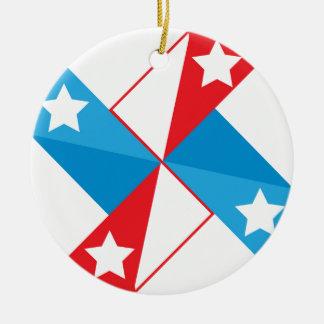 American fan round ceramic ornament
