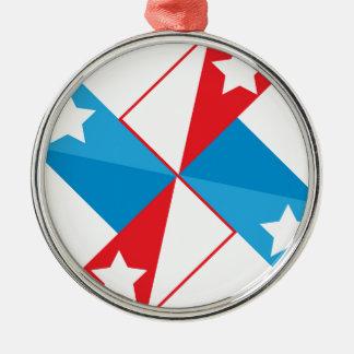 American fan Silver-Colored round ornament