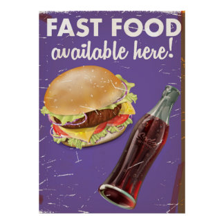 American Far Food Vintage Food Poster. Poster