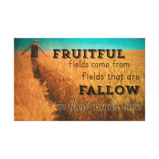 American Farmer Fruitful Field Wisdom Canvas Print
