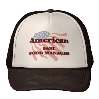 American Fast Food Manager Trucker Hat