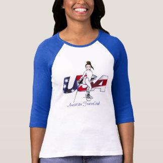 American FencerGrrl - USA T-Shirt