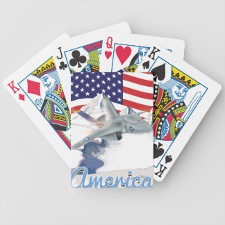 American fighter Jet Bicycle Playing Cards