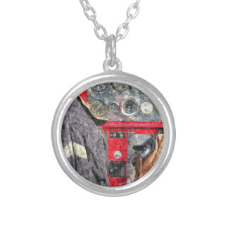 American Fire Truck Silver Plated Necklace