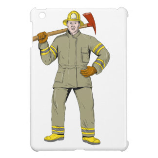 American Firefighter Fire Axe Drawing Case For The iPad Mini