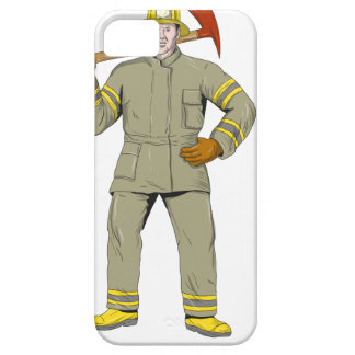American Firefighter Fire Axe Drawing Case For The iPhone 5