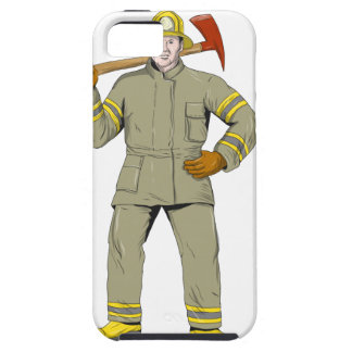 American Firefighter Fire Axe Drawing iPhone 5 Case
