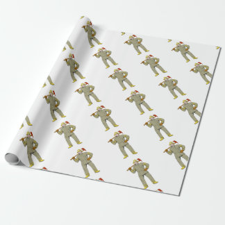 American Firefighter Fire Axe Drawing Wrapping Paper