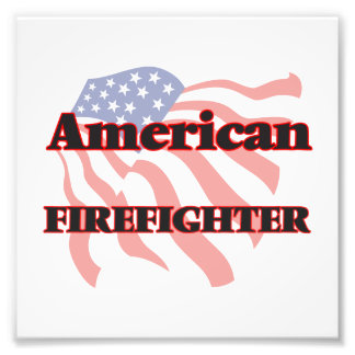 American Firefighter Photographic Print