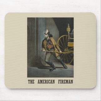 American fireman Mousepad