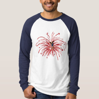 American Fireworks Designed Long Sleeved Top