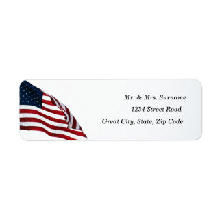 American Flag 2371 Address Label