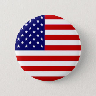 American Flag 2 Inch Round Button
