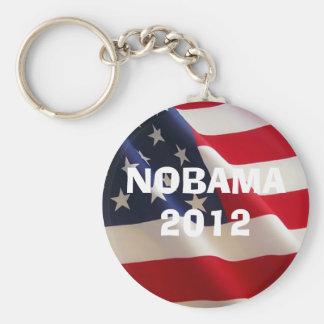 american-flag-2a, NOBAMA 2012, NOBAMA 2012 Basic Round Button Keychain