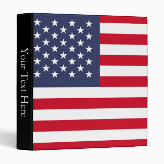 American Flag 3 Ring Binder