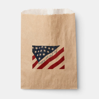 American Flag 4th of July Favor Bags