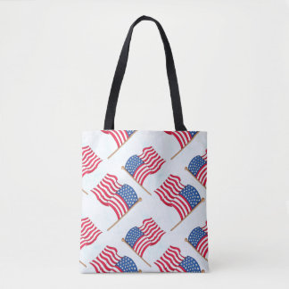 American Flag 4th Of July Red White Blue Tote Bag