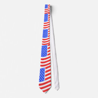 American Flag 4th of July Ties