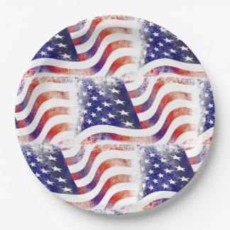 "American Flag 9"" Paper Plates"