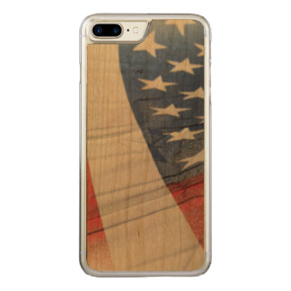 American Flag Abstract phone Carved iPhone 7 Plus Case