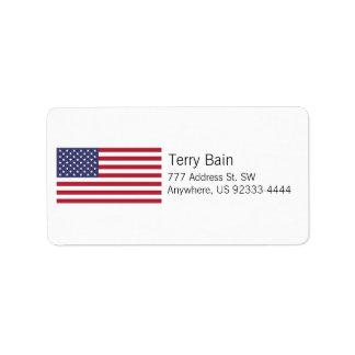 American Flag Address Label