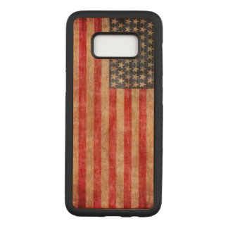 American Flag Aged Carved Samsung Galaxy S8 Case