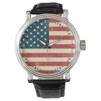 American Flag Aged Faded Watches