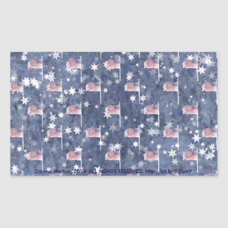 American Flag Aglow, star spangled pattern