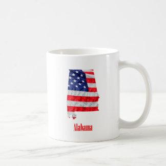 American Flag Alabama United States Coffee Mug