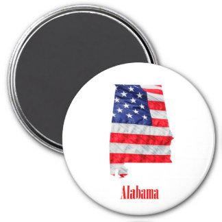 American Flag Alabama United States Magnet